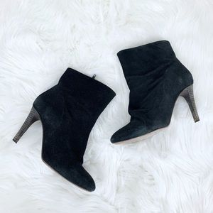 Free People Suede Heeled Ankle Boots